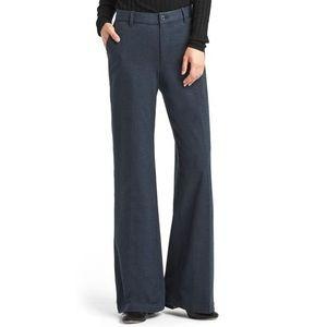 GAP Pants Wide Leg Knit Trousers Heather Navy